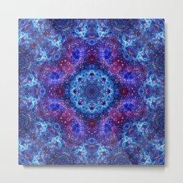 Shiva Blue Mandala Metal Print