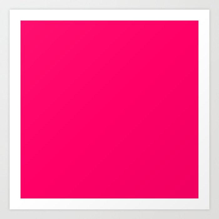 Hot Pink Color Art Print