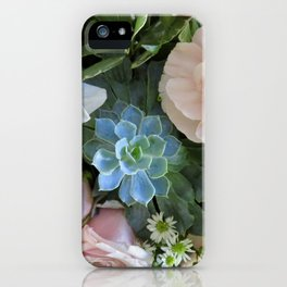 Cactus Surrounded by Beautiful Flowers iPhone Case