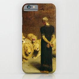 Daniel In The Lions Den 1872 By Briton Riviere iPhone Case
