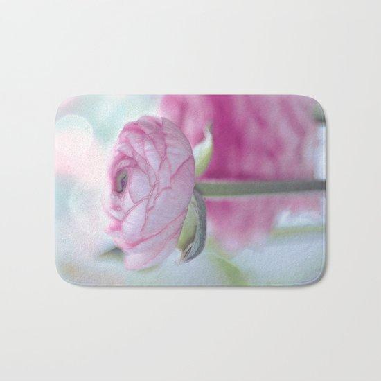 Tender flower (ranunculus) Bath Mat