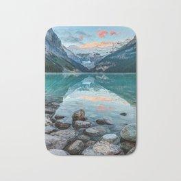Lake Louise, Banff National Park, Alberta, Canada Bath Mat