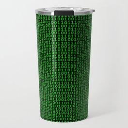 Binary Green Travel Mug