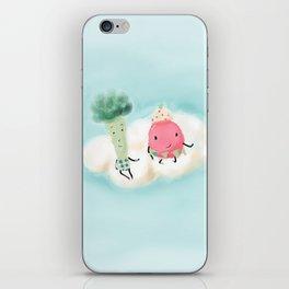 Mr. Broccoli & Ms. Strawberry  iPhone Skin