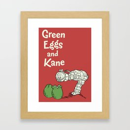 Green Eggs and Kane Framed Art Print