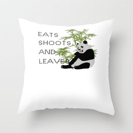 Eats, Shoots and Leaves Throw Pillow