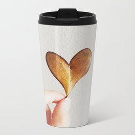 Perfect heart by nature leaf Metal Travel Mug