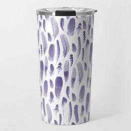 Ultra Violet Feather Pattern Travel Mug