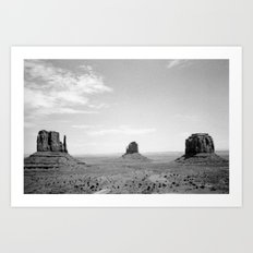 Monument Valley // Three Sisters Art Print