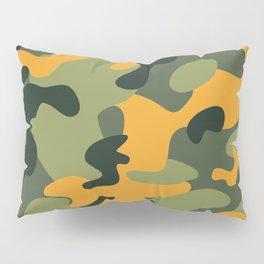 Green & Orange Camo Pillow Sham