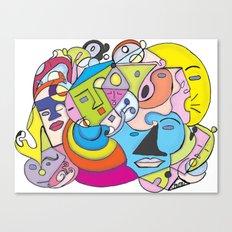 Talk Talk ,Sleepy, and Moonface Graffiti  Canvas Print