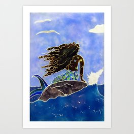 Lady of the Atlantic Crossing Art Print