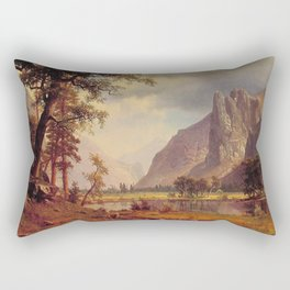 Yosemite Valley 1866 By Albert Bierstadt | Reproduction Painting Rectangular Pillow