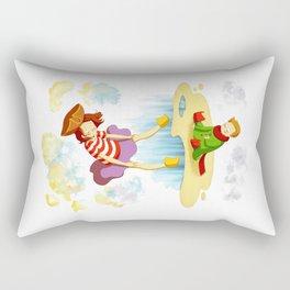 Etienne & Phil - Le monde à l'envers Rectangular Pillow
