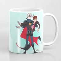 yaoi Mugs featuring PruMano superheroes by Jackce