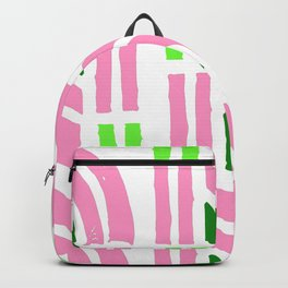 Mid-Century Modern Party Pink & Bright Mint Pattern Backpack