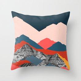 Graphic Mountains X Throw Pillow