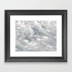 TEXTURES: Laguna Beach Sea Foam #2 Framed Art Print