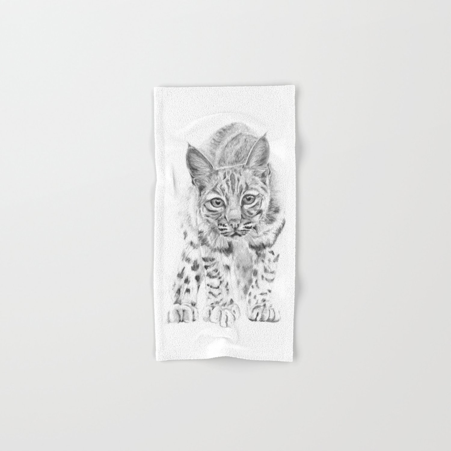 On the Prowl :: A Young Bobcat Hand & Bath Towel