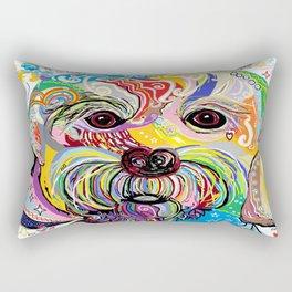 Maltese Puppy Rectangular Pillow