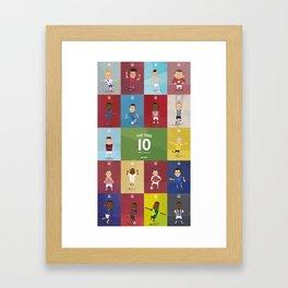The Tens  Framed Art Print