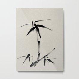 Japanese brush painting - Bamboo & Zen Metal Print