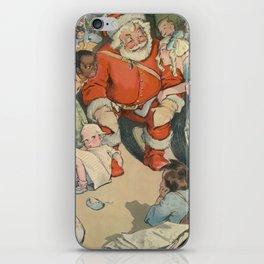 Vintage Santa Claus & Children Illustration (1903) iPhone Skin