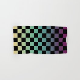 Color Gradient Checker Pattern Hand & Bath Towel