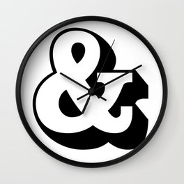 &: Ampersand and symbol Wall Clock