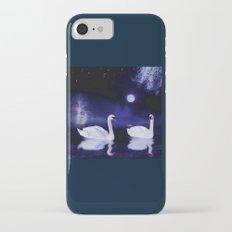 Swan lake at midnight Slim Case iPhone 8