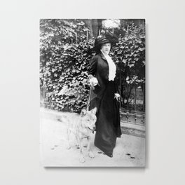 Countess Troubetskoy and Fang the wolf Metal Print