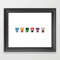 Pixel Avengers Framed Art Print
