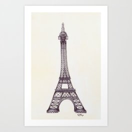 Merci Beaucoup Art Print