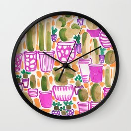Sorority Plants Wall Clock