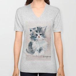 Kitten Portrait Unisex V-Neck