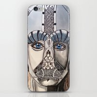 viking iPhone & iPod Skins featuring Viking by Hannah Brownfield Camacho