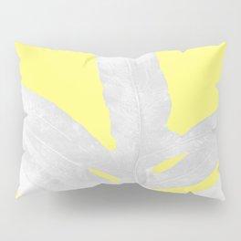 Green Fern on Lemon Yellow Inverted Pillow Sham