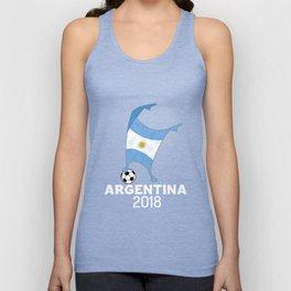 Argentina Flag Football Cup Soccer 2018 Dabbing World Unisex Tank Top