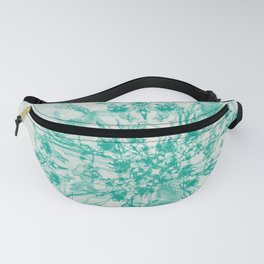 teal bouquet and butterflies Fanny Pack