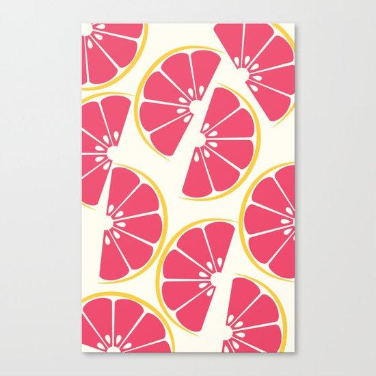 Citrus: Grapefruit Canvas Print