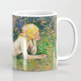Berthe Morisot - Reclining nude shepherdess - Digital Remastered Edition Coffee Mug