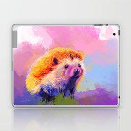 Sweet Hedgehog, cute pink and purple animal painting Laptop & iPad Skin