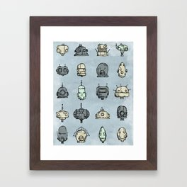 Robot Menagerie Framed Art Print