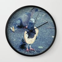 hiphop Wall Clocks featuring HipHop Dove Wife by Sigurdfisk