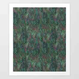 After Anawhata Jungle  Pattern Art Print