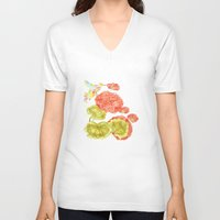 hummingbird V-neck T-shirts featuring Hummingbird by Thesecretcolors