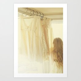 ginger and lace Art Print
