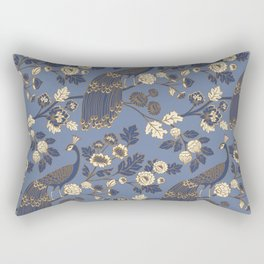 Peacock Garden {Eastern Blue} Rectangular Pillow