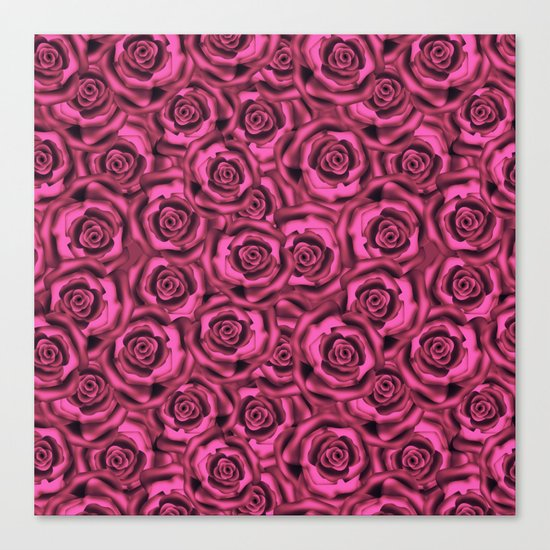 Pink roses. Pattern. Canvas Print