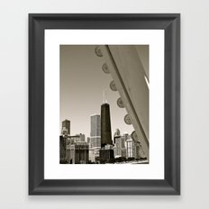 Stark Chicago in Black & White Framed Art Print